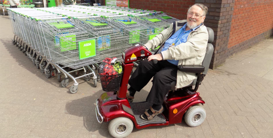 A resident of Cheshire East using Shopmobility